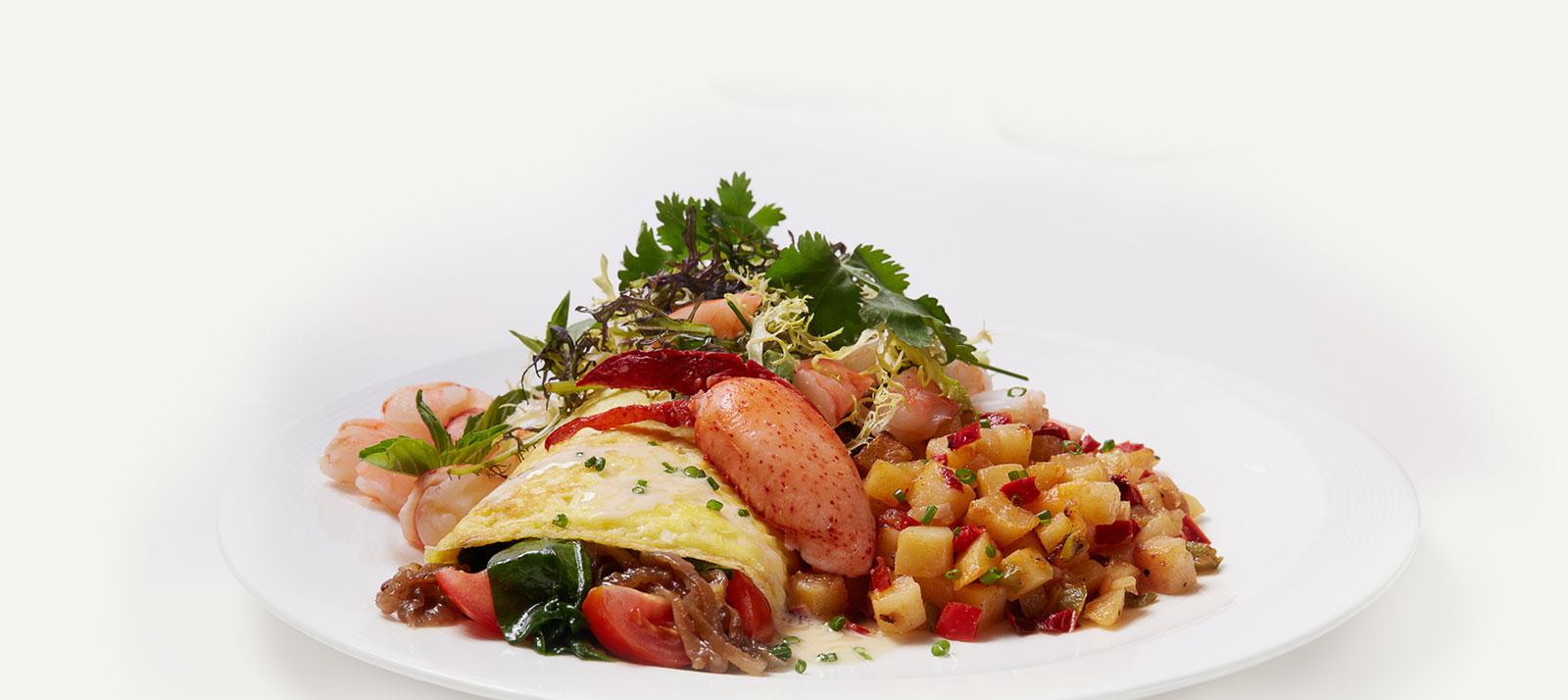 Lobster & Shrimp Omelet