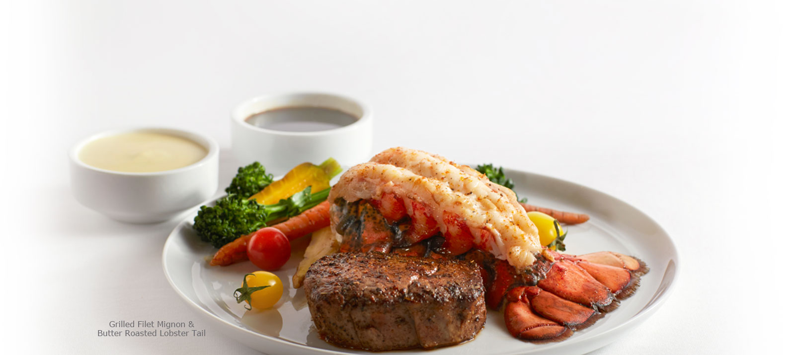 Grilled Filet Mignon & Butter Roasted Lobster Tail